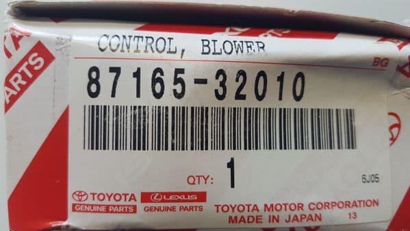 GENUINE NEW TOYOTA ALPHARD / ESTIMA / PREVIA BLOWER MOTOR RESISTOR 87165-32010